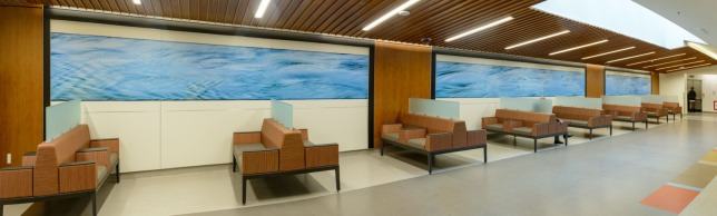 80 foot image in campbell river general hospital lobby