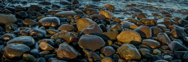 beach rock sunset 1x3