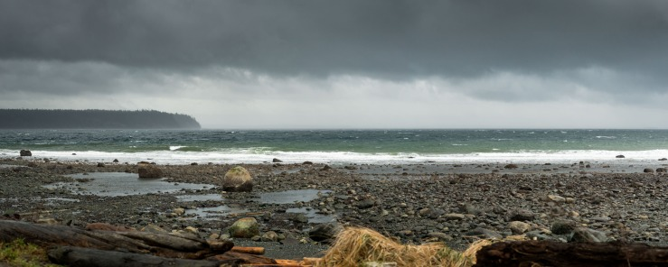 15 574 pixel. Cape Mudge during a small break in a storm.