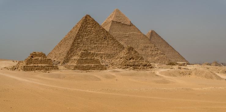 ancient pyramids at Giza, egypt