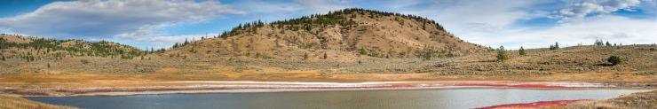 brine lake near kamloops
