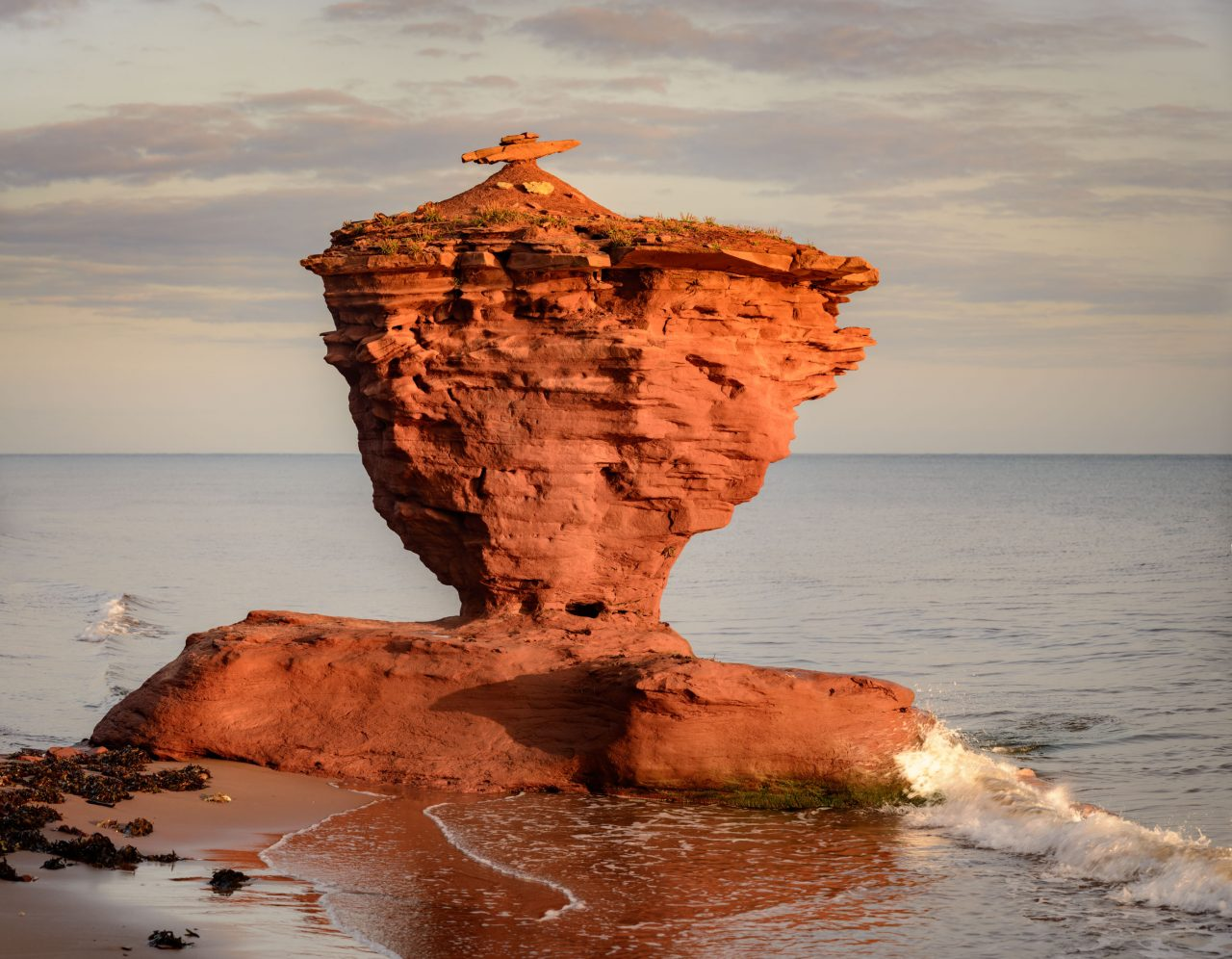 Tea Pot Rock on the northern shore of PEI