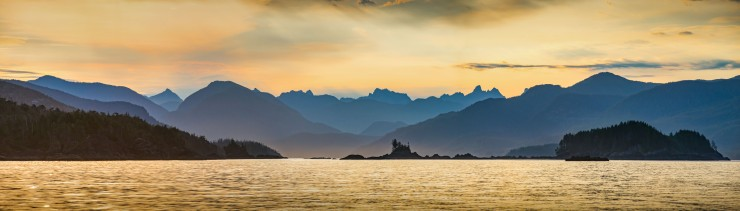 sunrise on the West Coast of Vancouver Island