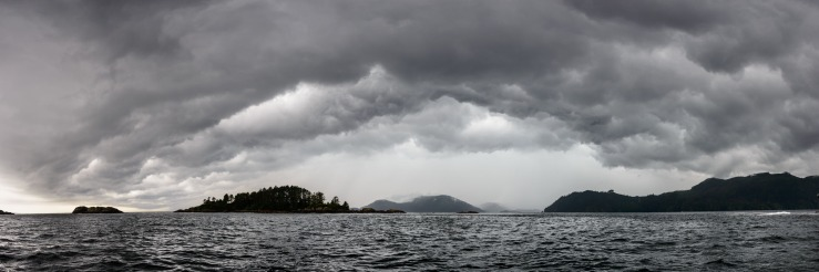 storm developing in Quatsino Sound.