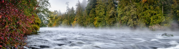 fog on the Campbell River