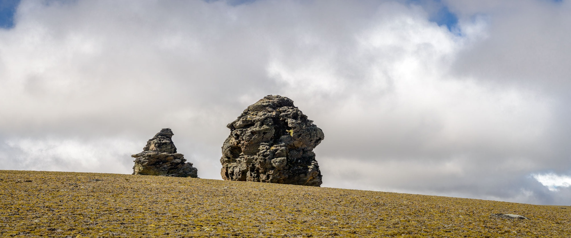 Large rock tors on Central Otago high country plain