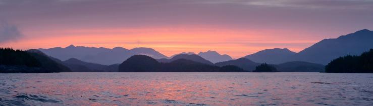 Nootka Sound pink sunrise
