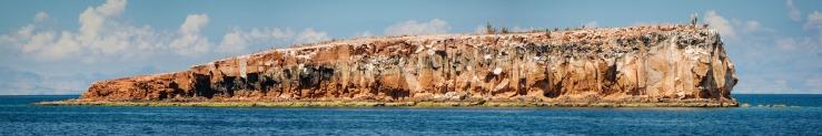 rocky island near la paz