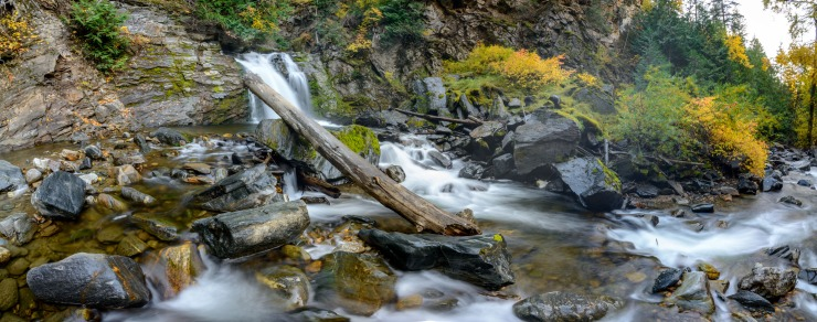Waterfall on Chase Creek during autumn