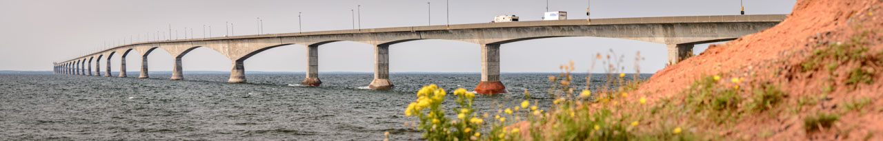 Confederation Bridge linking mainland Canada to Prince Edward Island.