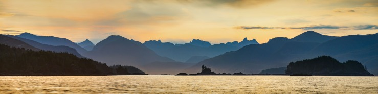 dramatic mountains and sunrise in esperanza sound.