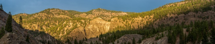 Fraser canyon sunset view