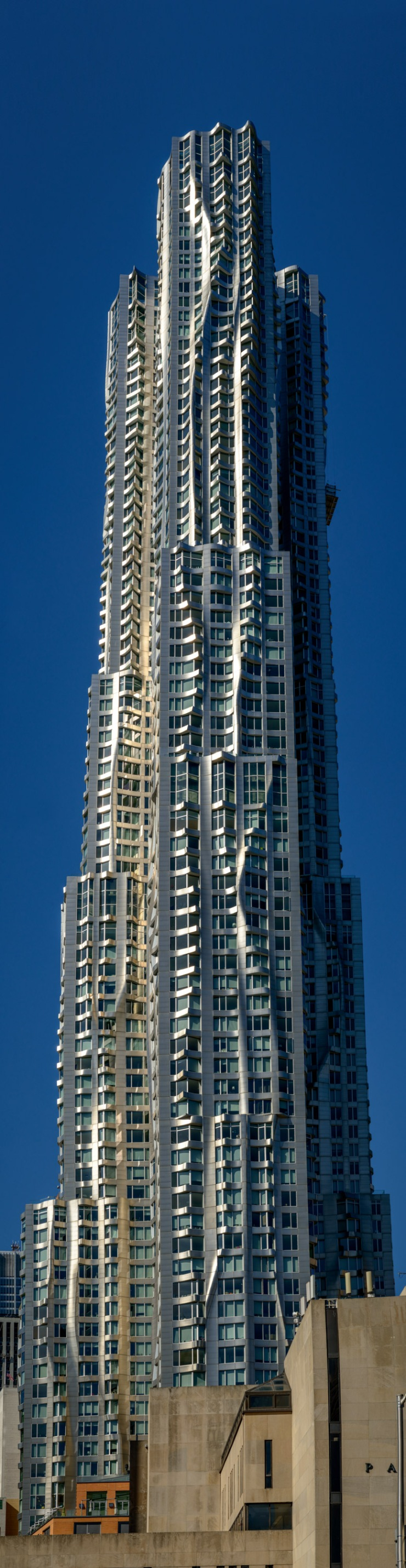 Frank Gehry designed residential tower in Lower Manhattan.