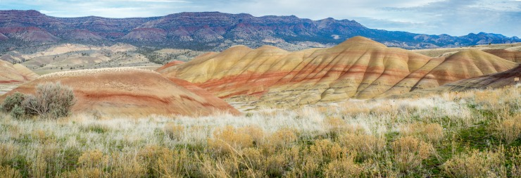 volcanic soils create dramatic formations at Painted Hills