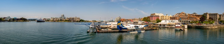 inner harbour and seaplanes at victoria, bc