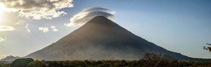 lenticular clouds over volcano Concepción in nicaragua