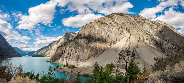 Dramatic mountain by Seton lake