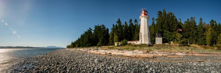 Quadra island and cape mudge lighthouse